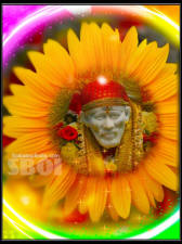 Shirdi Sai Baba Says why fear when i am here - sai baba sun flower wallpaper