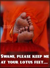 Swami, please keep me at your lotus feet. sathyasai