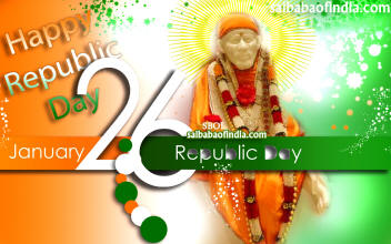Happy Republic Day India - 26th January - Sai Baba