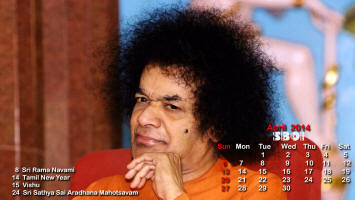 Sri Sathya Sai Photo Calendar - April 2014