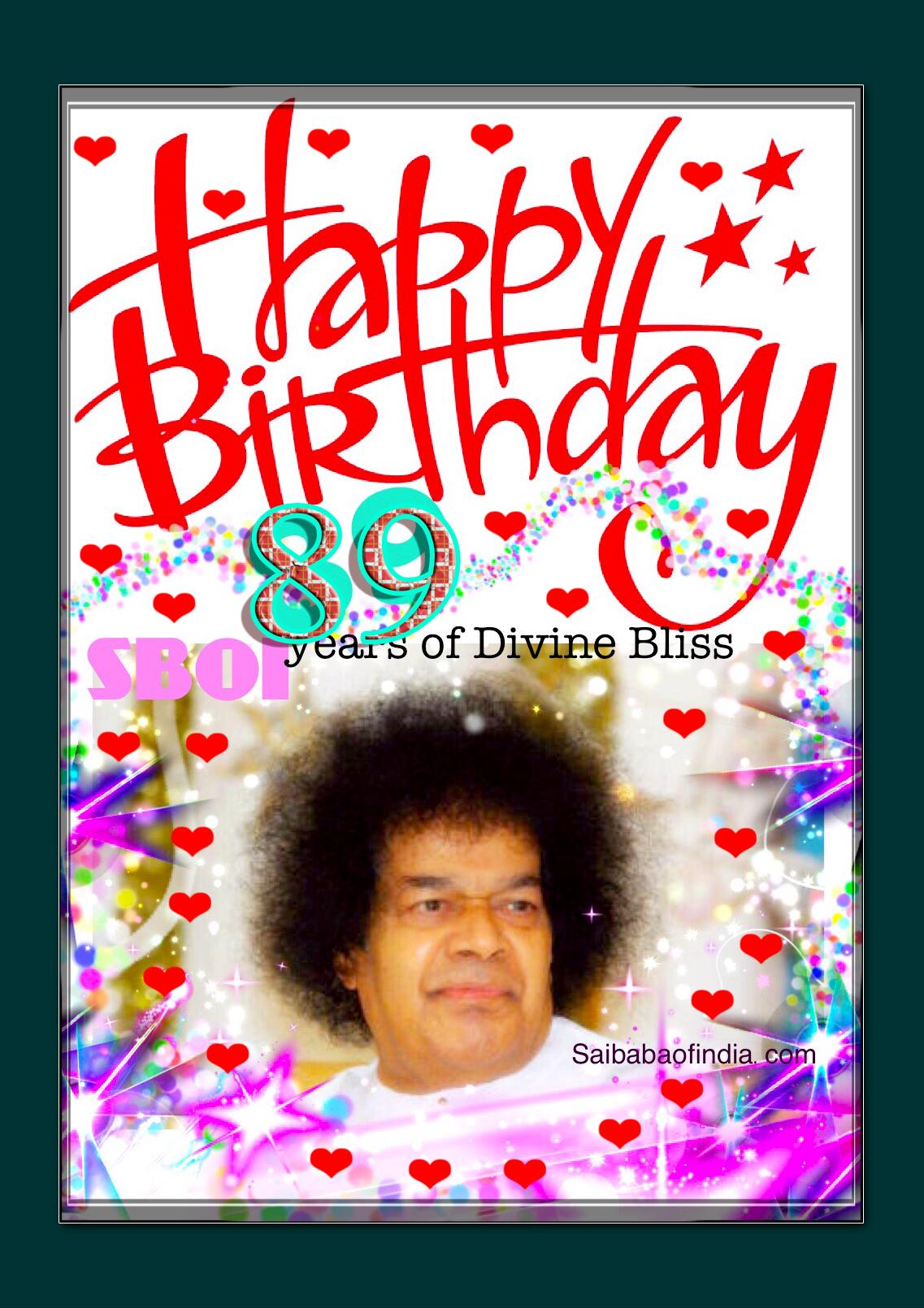 89th Sathya Sai Baba Happy Birthday Sai Baba Of Indias Weblog