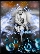 Sai Baba 3d photo