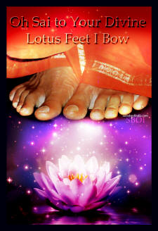 lotus feet of sri sathya sai baba - saibaba-bow down charan kamal