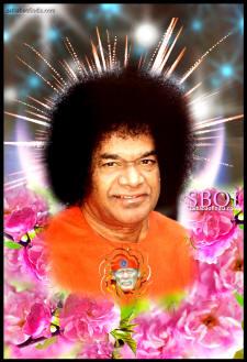 sathya sai baba-shirdi sai baba-heart-flowers-glory