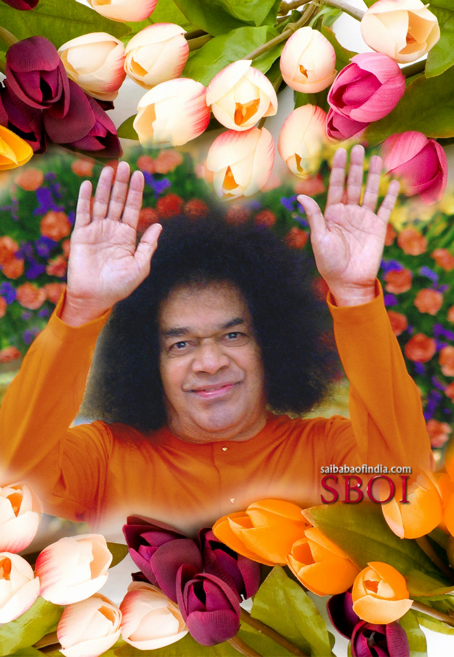 Bless you sri sathya sai baba maha samadhi photo lotus feet sai baba