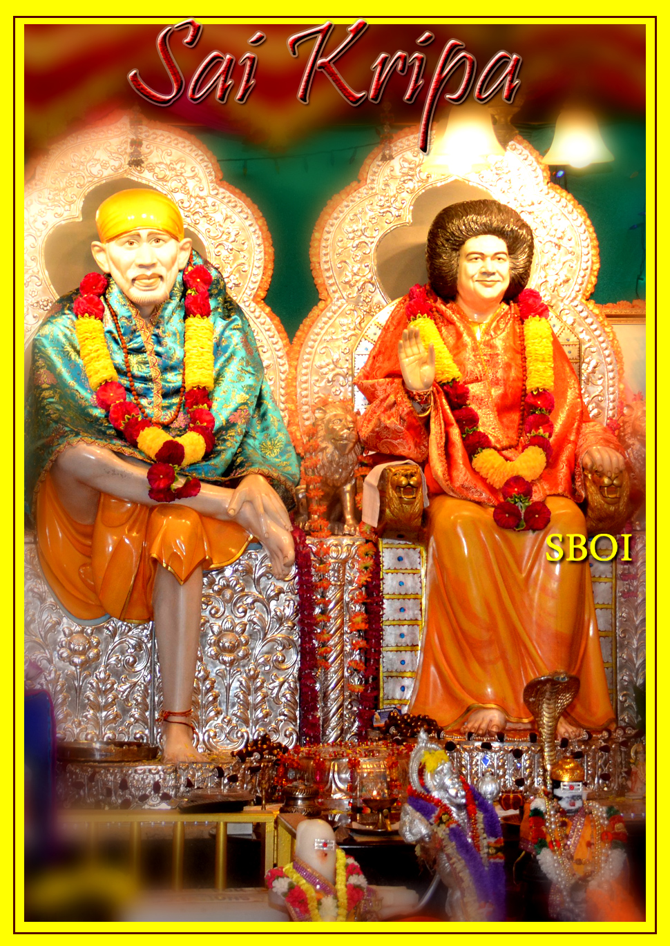 Nilayam india indian flag shirdi sai baba sathya sai baba