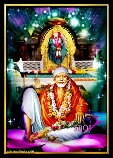 shirdi-sai-baba-sitting-on-lotus