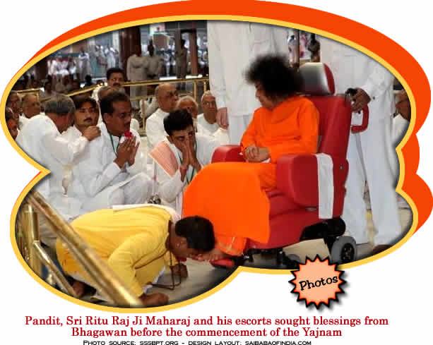 The Pandit had emotional words of gratitude for Bhagawan. He said, somewhere at some point of time I would have prayed to grant an opportunity to come and have Thy Divine Darshan and Bhagawan has given me this great grand boon, that redeems many a life...
