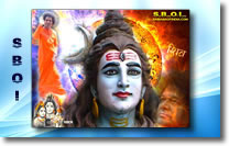 Maha Shivaratri greeting cards and wallpapers - Sai Baba