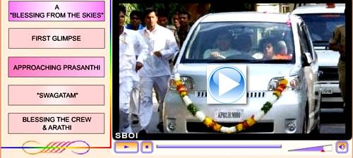 videos : Bhagawan Sri Sathya Sai Baba returns back to Prasanthi Nilayam