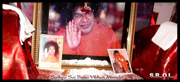 Sathya Sai Baba Vibhuti Miracle Vibhuti Manifestation In