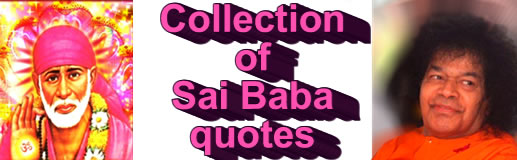 Collection of  Sai Baba QUOTES