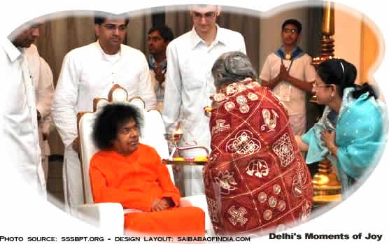 Sathya Sai Baba arrives in Delhi- SSSIC