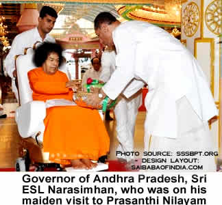 Governor of Andhra Pradesh, Sri ESL Narasimhan