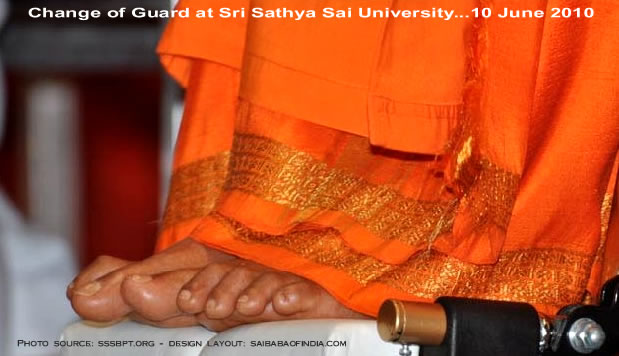 Lotus feet : Change of Guard at Sri Sathya Sai University...10 