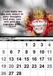 calendar-feb-2017-sai-baba-of-shirdi