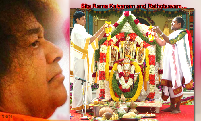 Sri Sathya Sai Baba's 87th Birthday -Sita Rama Kalyanam and Rathotsavam…celestial marriage of the Divine couple Lord Rama and Mother Sita- followed by The Chariot Procession