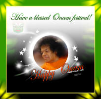 sai baba sri sathya sai baba  Onam Wallpapers