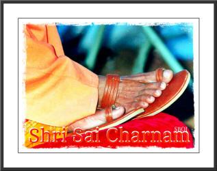 feet - Bhagawan Sri Sathya Sai Baba wearing sandals