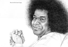Angelo de Mattia shared this sketch of Sri Sathya Sai Baba with SAI RAM FB page - Many thanks for sharing!