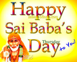 HAPPY SAI BABA'S DAY - THURSDAY - GREETING CARD - WALLPAPER