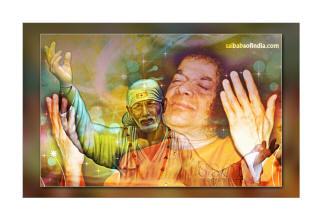 photo of Bhagawan Sri Sathya Sai Baba and shirdi sai baba
