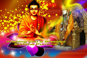 wallpaper Buddha and shirdi sai baba