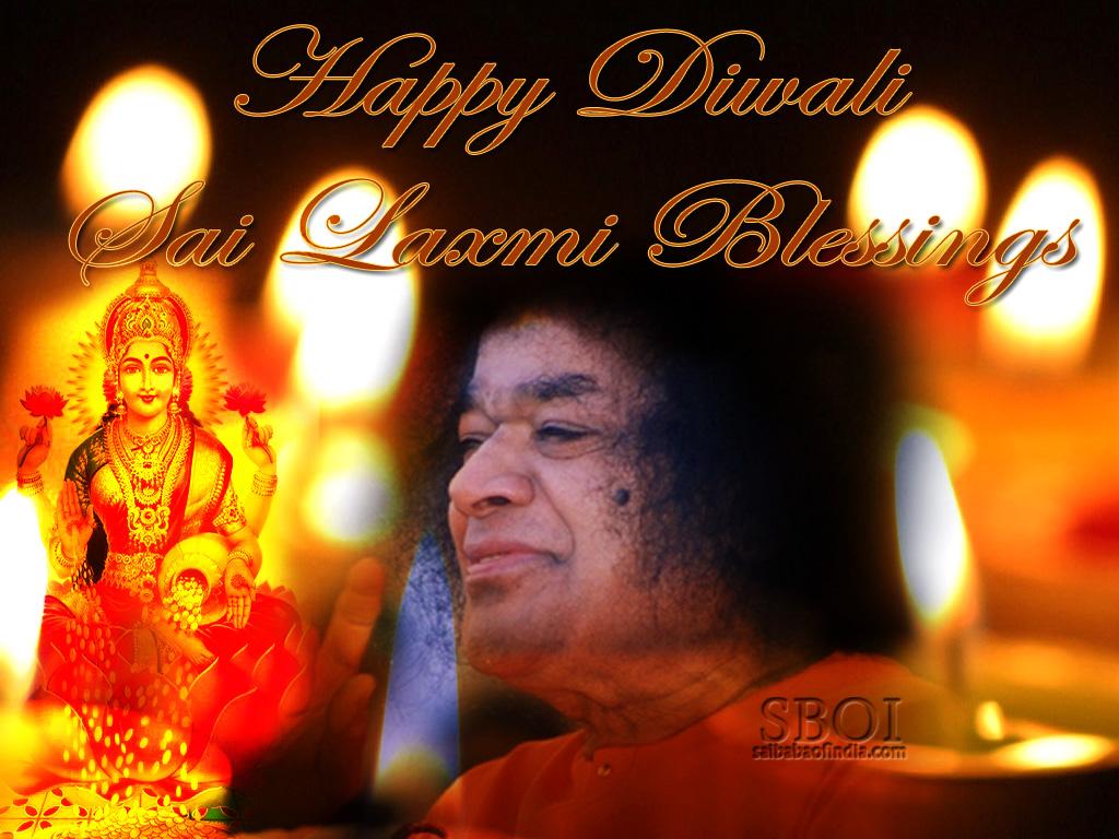 Sai Baba Diwali In Prasanthi Nilayam Greeting Cards Wallpapers