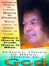 quote and photo of Bhagawan Sri Sathya Sai Baba