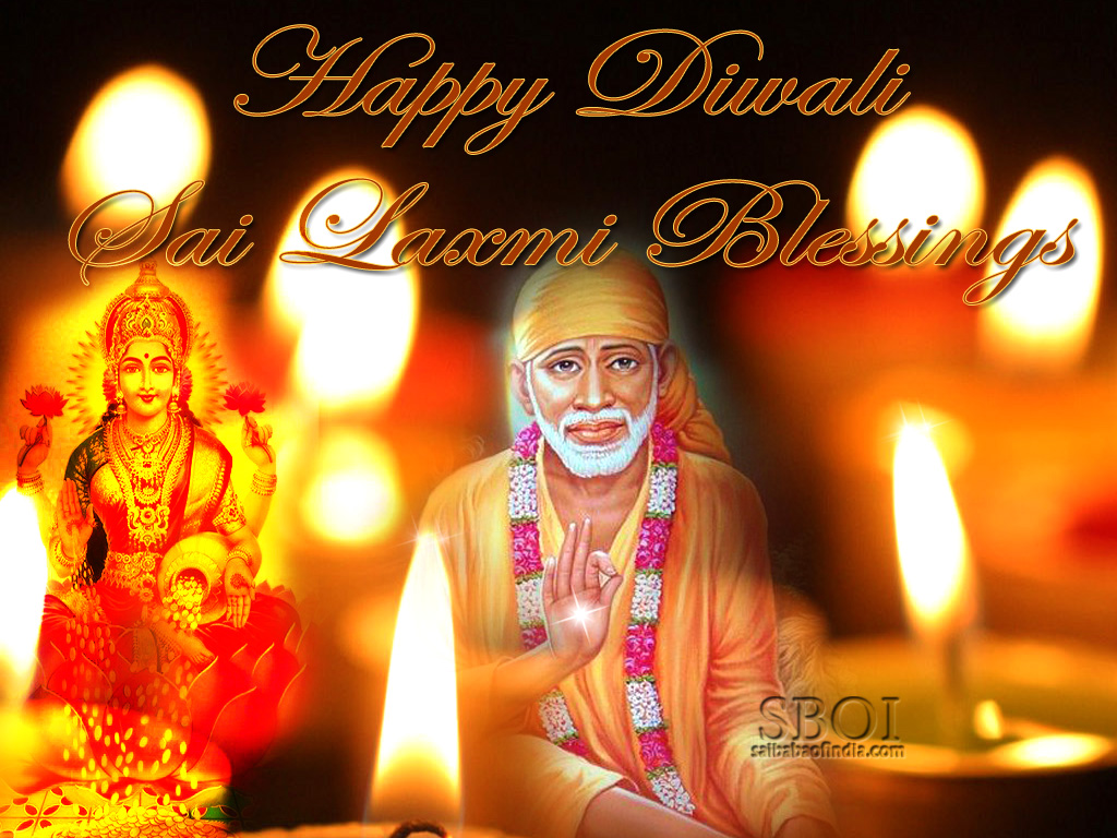 Sai baba diwali in prasanthi nilayam greeting cards wallpapers sri shirdi sai baba diwali blessings wallpaper greeting m4hsunfo