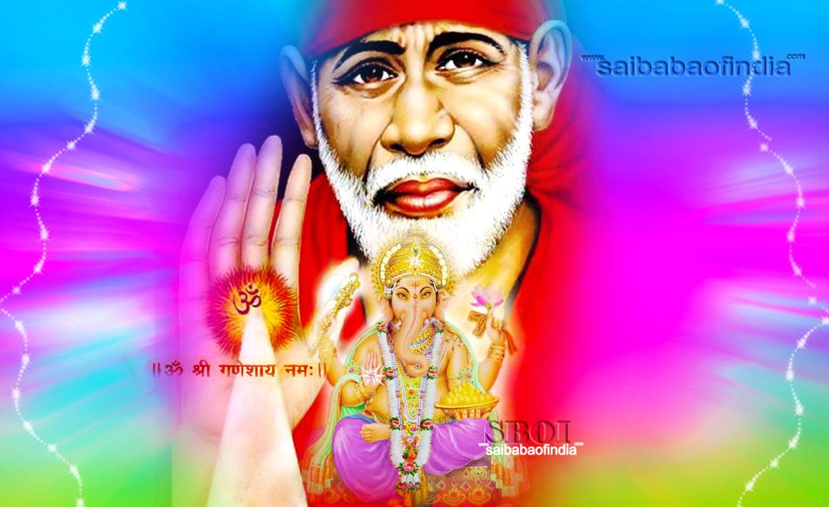 Wallpaper download karna hai -  Shirdi Sai Ganesha 2