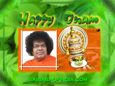 Onam Greeting cards - sri sathya sai baba