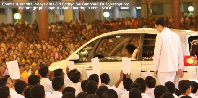 sai baba car darshan 18 feb 2011