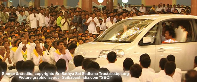 sai baba car darshan 18-02-2011