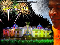 sathya sai baba and Shirdi sai baba new year wallpapars and greeting cards