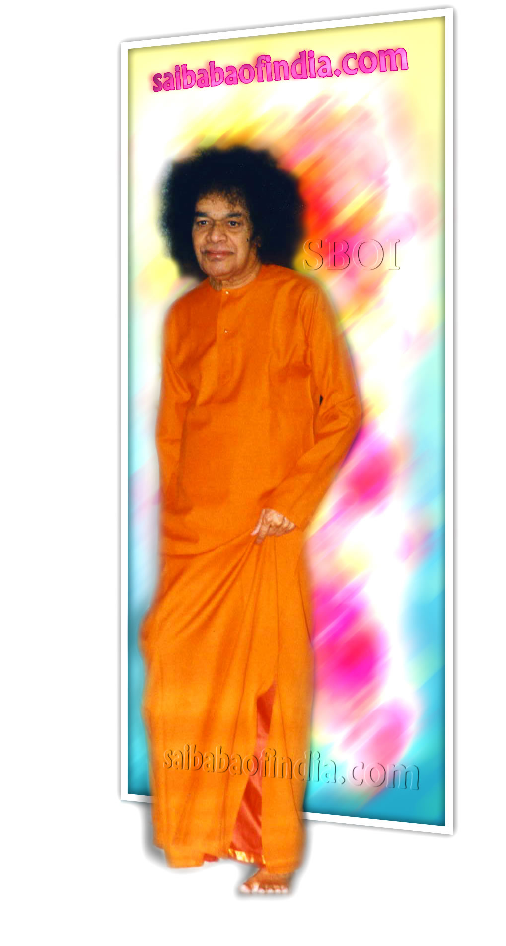 SRI-SATHYA-SAI-BABA-3D-PHOTO-STEPPING-OUT-OF-PICTURE-FRAME