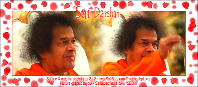 Wed, Dec 29, 2010: This morning, emerging at 0830 hrs. Bhagawan went to the Super Speciality Hospital at Prasanthigram. Returning to Ashram at 0935 hrs. Bhagawan came into the Sai Kulwant from the Yajur Mandiram end at 0940 hrs. for a full round darshan.