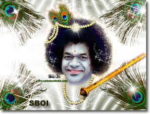 Sai Baba  - Krishna Janmashtami Greeting cards and wallpapers