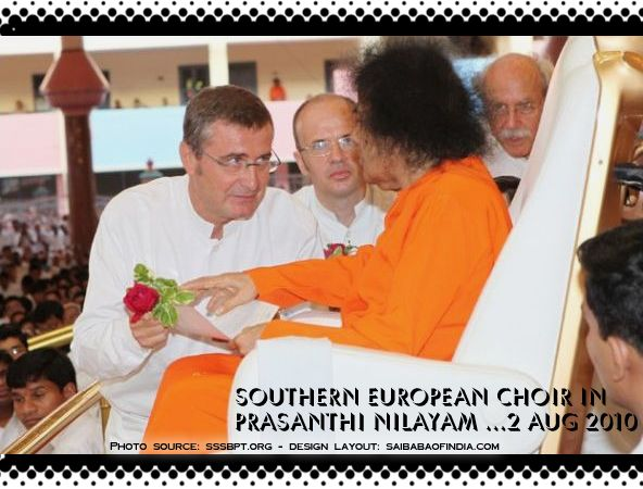 A Rose For Baba:  2nd August 2010 prasanthi Nilayam