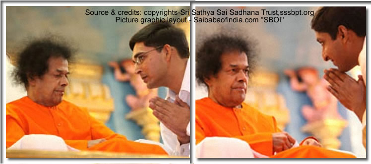 Mon, Feb 7, 2011: This evening Bhagawan arrived at 1925 hrs. and after His usual round came on to the dais in ten minutes. Bhajans continued in full vigour till Bhagawan indicated for Mangala Arathi at 1955 hrs.