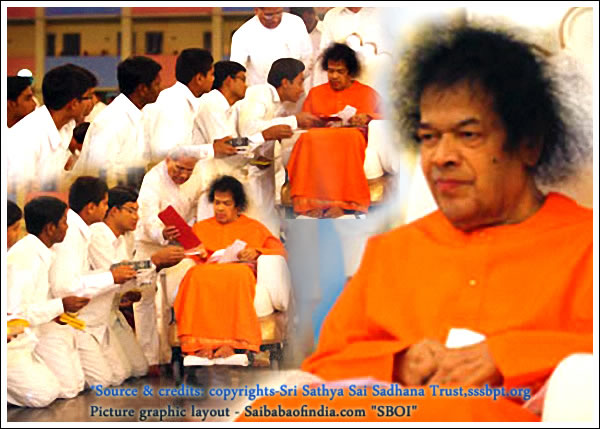 Thu, Jan 20, 2011: Fulfilling the 'holyday's' aspirations and prayers from thousands congregated in the Sai Kulwant Hall, Bhagawan emerged from the Divine Abode at 1823 hrs.