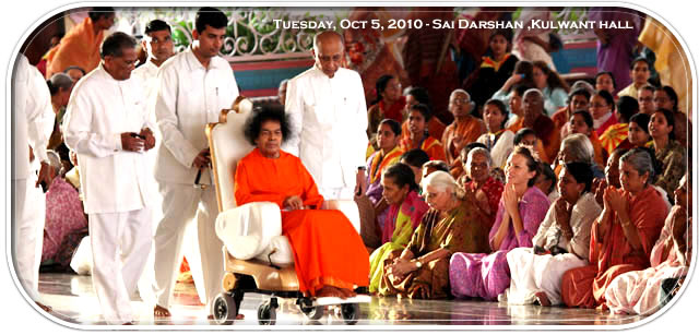 sathya-sai-baba-darshan-in-prasanthi-today-05-10-2010