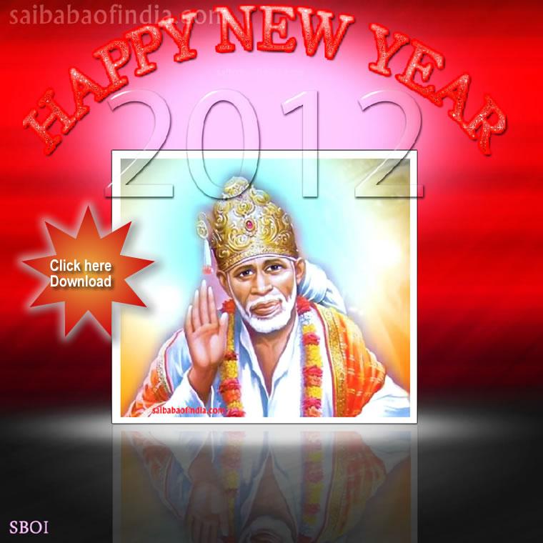 Sai baba photos news wallpapers darshan mandir travel happynewyearsrishirdisaibaba blessings sai baba new year greeting m4hsunfo