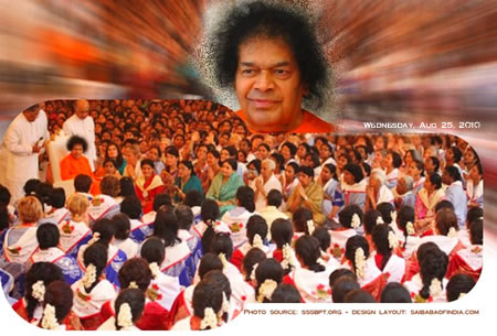 sathya sai baba darshan photo 25 august 2010