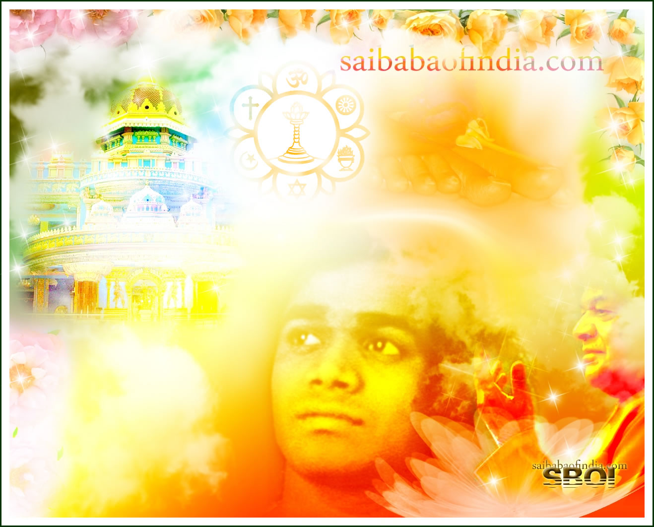 "SRI SATHYA SAI BABA WALLPAPER - ""PRASANTHI GRACE"""