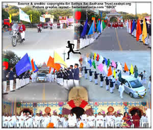 Annual Sports and Cultural Meet 2011 of SSSIHL and Sri Sathya Sai Institutions got underway this evening at Sri Sathya Sai Vidyagiri Hill View Stadium in the immediate presence of the Divine Chancellor.