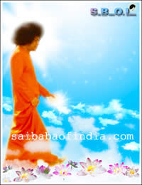 Sri Sathya Sai Baba Walking on clouds...