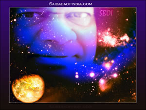 LORD OF THE UNIVERSE WATCHING OVER US- SRI SATHYA SAI BABA