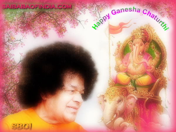 saibaba wallpapers. Sai Baba Ganesha - Blessing
