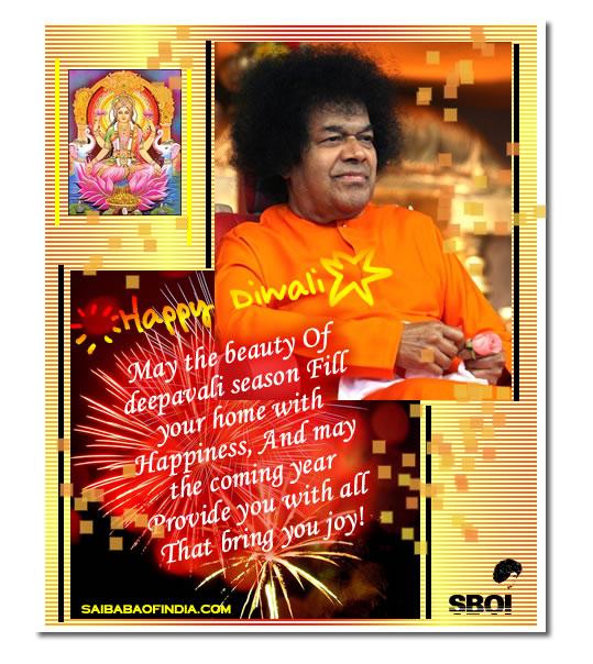 Sai baba diwali in prasanthi nilayam greeting cards wallpapers send deepavali diwali greeting cardssai baba theme right click choose email picture or save to the hard disk m4hsunfo
